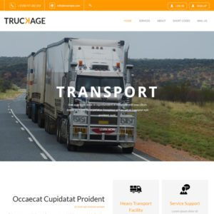 Truckage Free Bootstrap Transport Template
