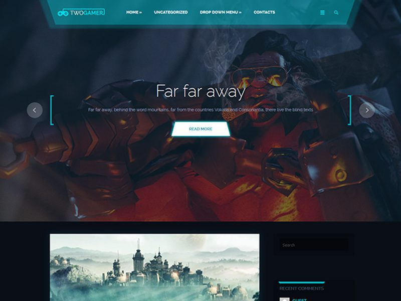 TwoGamer Free Game WordPress Theme