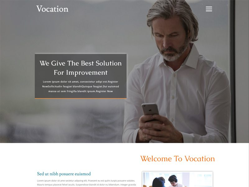 Vocation Free Bootstrap Business Template
