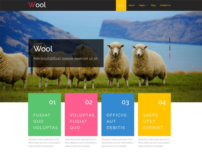 Wool Free Bootstrap Agriculture Template