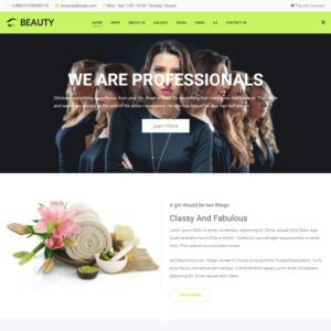 Beauty Free Joomla Beauty Template