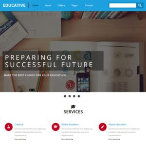 Educative Free Education Bootstrap Template