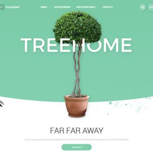 HomePlant Free Nature WordPress Theme
