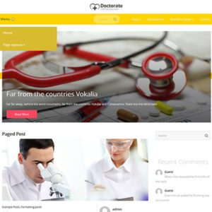 JRecord Free WordPress Doctor Theme