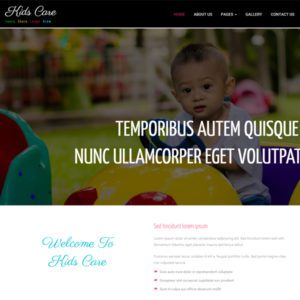 Kids Care Free Bootstrap Society Template