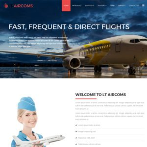 LT Aircoms Onepage Free Air Transport Joomla Template