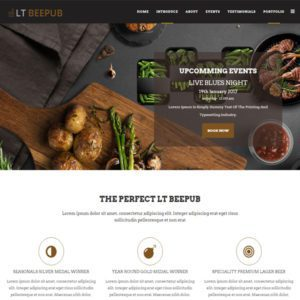 LT BeePub Onepage Free Single Bar Joomla Template