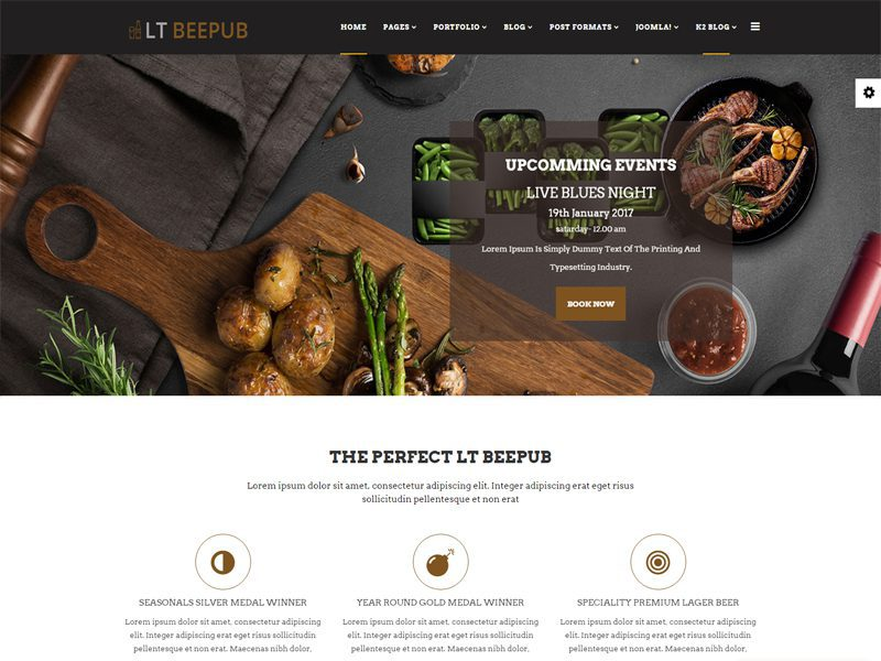 LT BeePub Joomla Bar Template