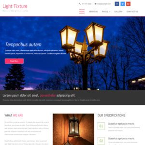 Light Fixture Bootstrap Furniture Template