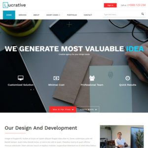 Lucrative Free Bootstrap Business Template