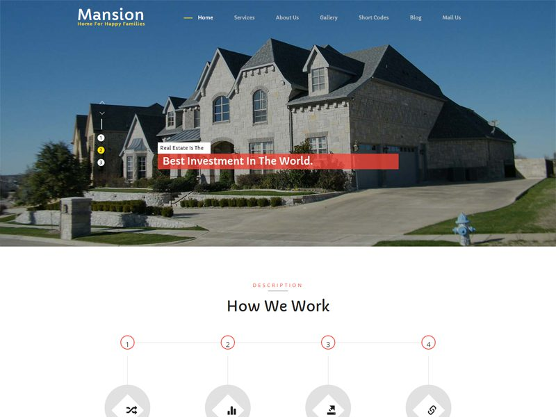 Mansion Free Bootstrap Real Estate Template