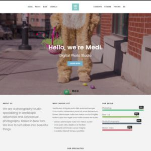 Medi Free Photography Joomla Template