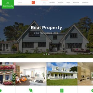 Real Property Free Bootstrap Real Estate Template