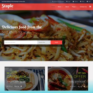 Staple Food Free Bootstrap Restaurant Template