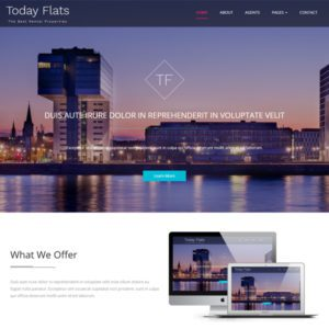Today Flats Free Bootstrap Real Estate Template