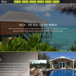 Villa Free Real Estate Bootstrap Template