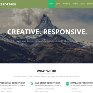 AT Portgen Onepage Free Business Joomla Template