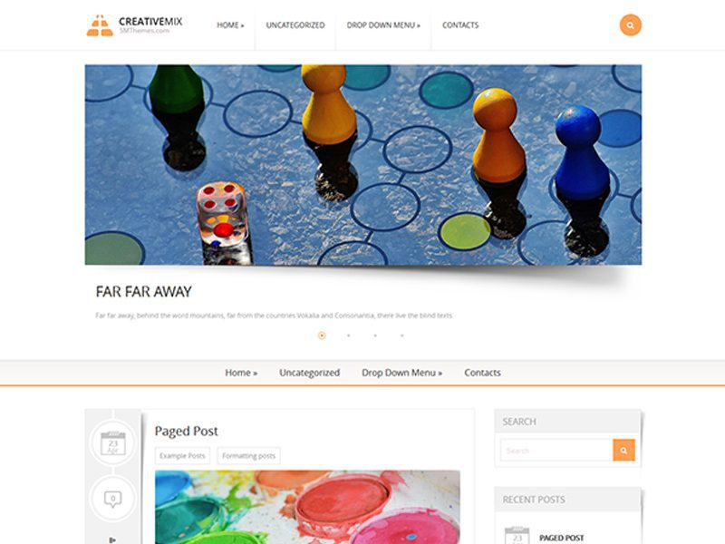 CreativeMix Free WordPress Creative Theme