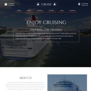 Cruise Free Bootstrap Travel Template