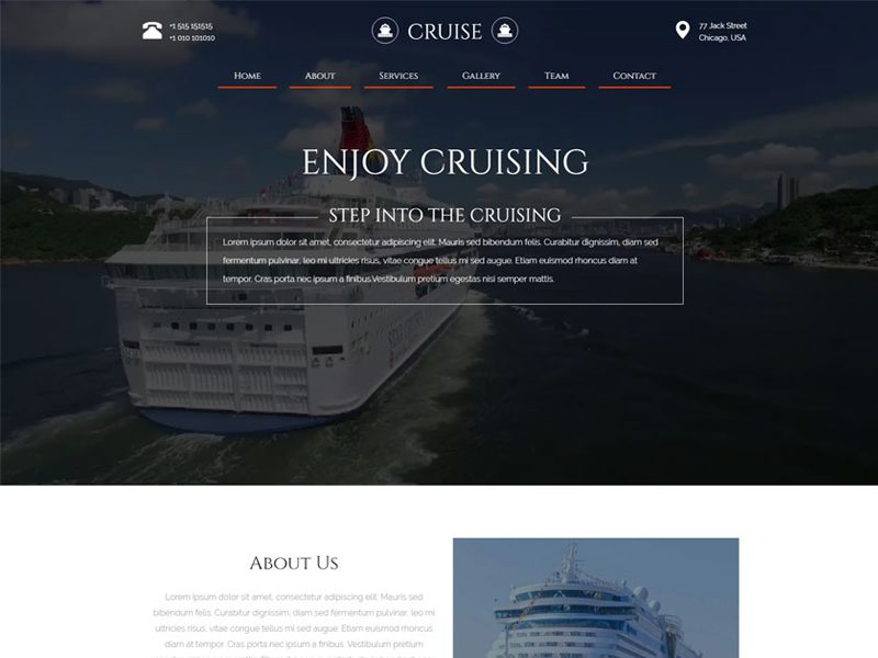 Cruise Responsive Travel Agency Template Free Download