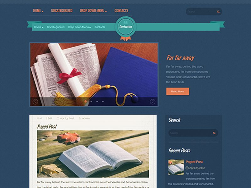 Deriviation Free WordPress Education Theme