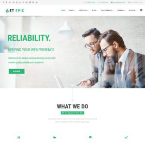 ET EPIC Free Business Joomla Template