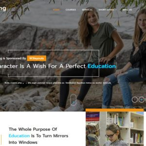 Edifying Free Bootstrap Education Template