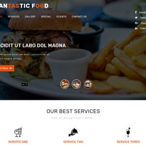 Fantastic Free Restaurant Bootstrap Template
