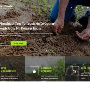 Germinate Best Agriculture Website Template