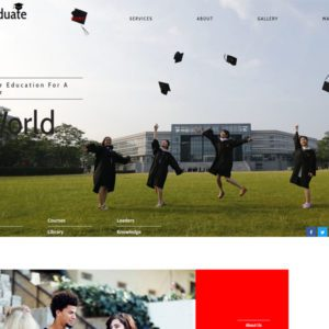 Graduate Free Education Bootstrap Template