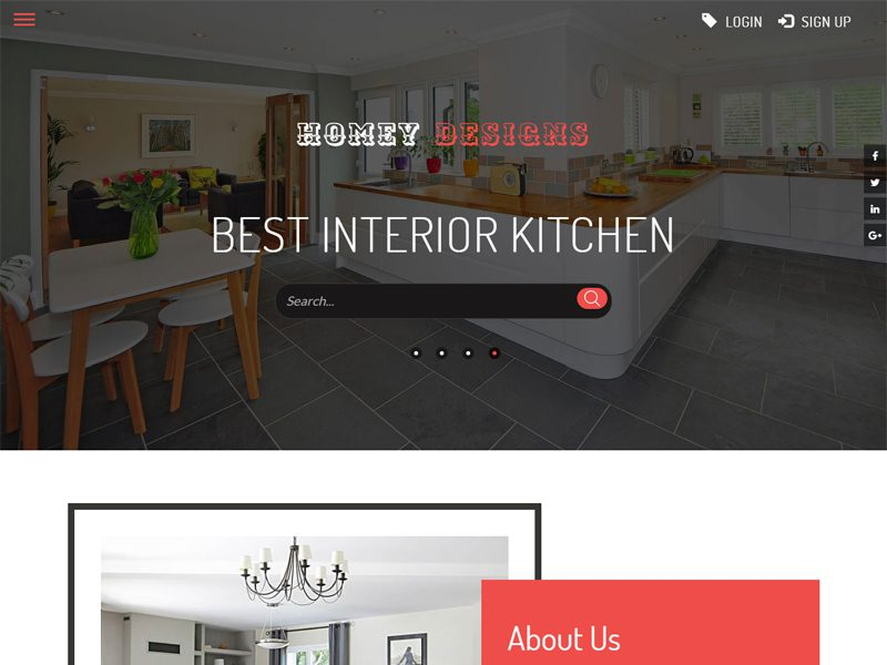 Homey Designs Bootstrap Furniture Template