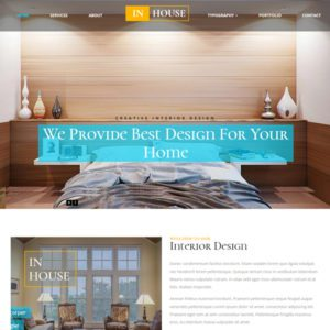 In House Free Bootstrap Real Estate Template