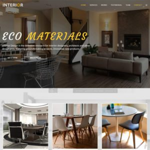 Interior Free Joomla Furniture Template