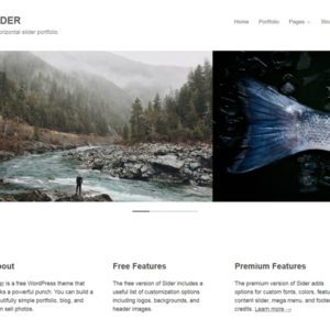 Sider Free WordPress Photography Theme