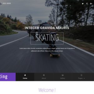 Skating Bootstrap Sport Template