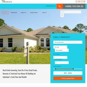 Tenements Free Bootstrap Real Estate Template