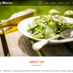 Veg Mores Free Bootstrap Restaurant Template