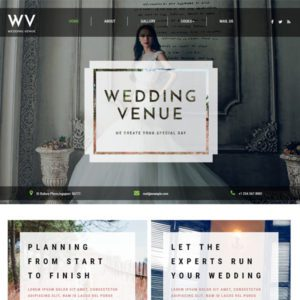 Wedding Venue Free Bootstrap Wedding Template