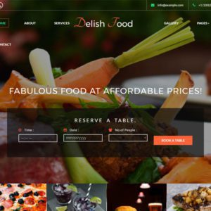 Delish Food Free Bootstrap Restaurant Template