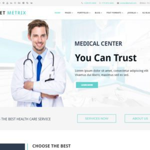 ET Metrix Free Joomla Medical Template