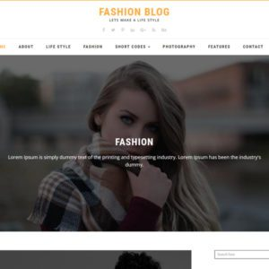 Fashion Blog Free Blog Bootstrap Template