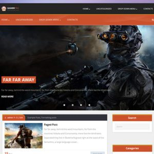 GamerPro Free Game WordPress Theme