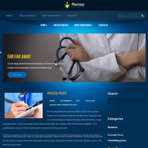 Pharmacy Free Health WordPress Theme