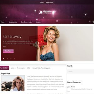 PiquantWomen Free Blog WordPress Theme