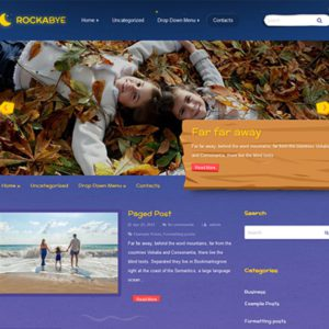 Rockabye Free Blog WordPress Theme
