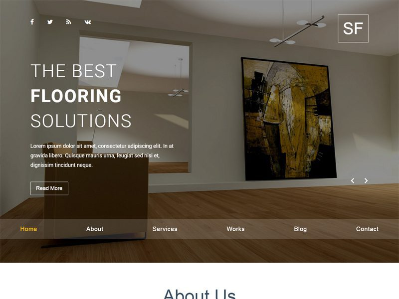 Space Free Furniture Website Template