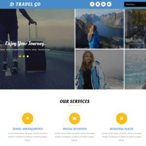 Travel Go Free Bootstrap Travel Template