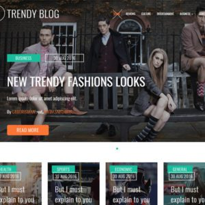 Trendy Blog Free Bootstrap Blog Template