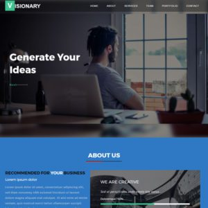 Visionary Free Business Bootstrap Template