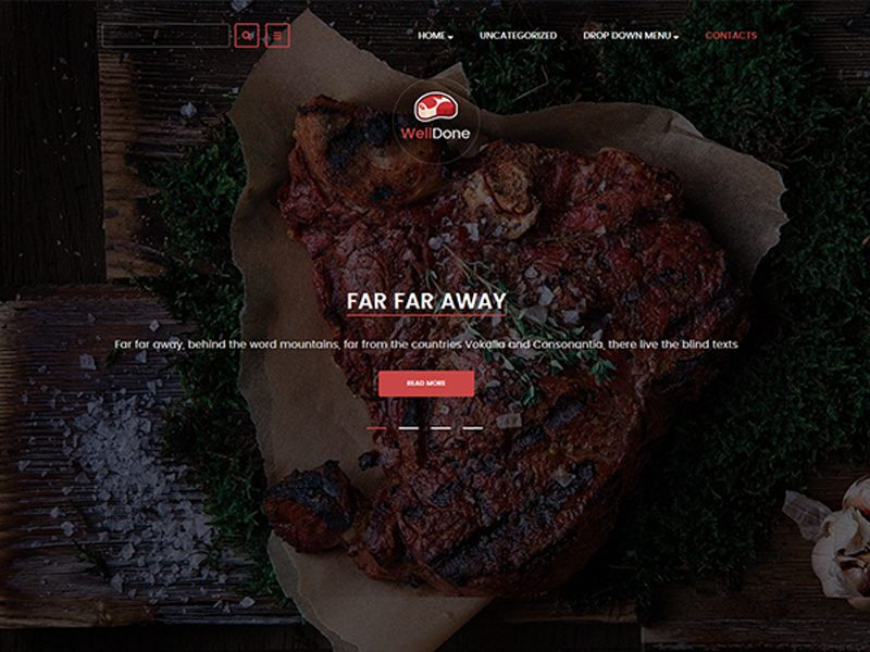 WellDone Free WordPress Food Theme